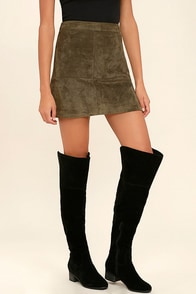 Dolly Black Suede Over the Knee Boots