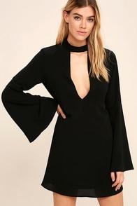 Deeply in Love Black Shift Dress