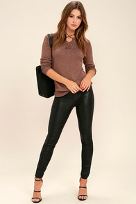Blank NYC Happy Hour Black Vegan Leather Leggings