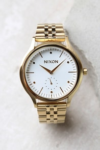 Nixon Sala Gold and White Watch