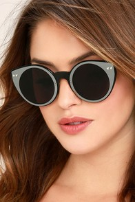 Spitfire Alpha 1 Black and Silver Mirrored Sunglasses