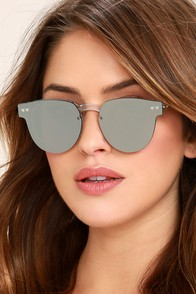 Spitfire Sharper Edge 2 Clear and Silver Mirrored Sunglasses