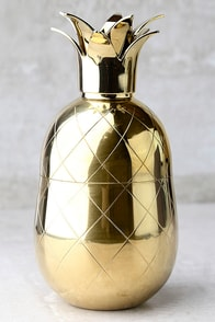 The Pineapple Co. Gold Pineapple Cocktail Shaker