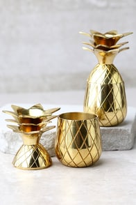 The Pineapple Co. Gold Pineapple Shot Glass Set