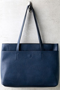Can't Slow Down Navy Blue Tote