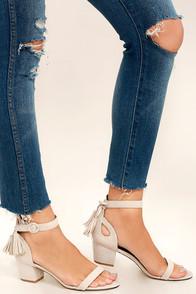 Shelby Nude Suede High Heel Sandals