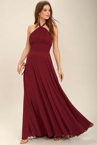 Dance of the Elements Burgundy Maxi Dress