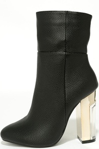 Naomi Black Lucite Mid-Calf Boots