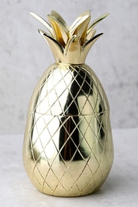 The Pineapple Co. Gold Pineapple Tumbler