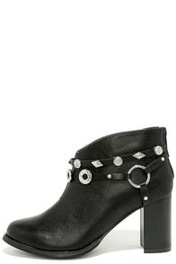 Gretta Black High Heel Ankle Booties