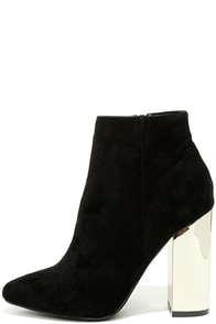 Ashton Black Suede Ankle Booties