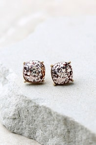 Sparkling Reputation Pink Earrings