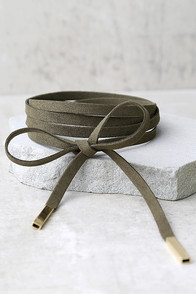 Unity Olive Green Wrap Necklace