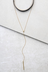 Is It Any Wonder Black and Gold Necklace Set