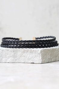Braid for You Black Choker Necklace
