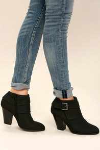 Illse Black High Heel Ankle Booties