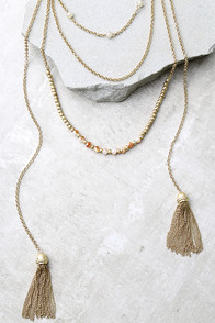 Extraordinary Talent Pink and Gold Layered Necklace