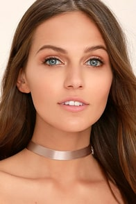 Love Confession Taupe Choker Necklace