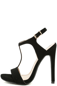 Mallory Black Nubuck Dress Sandals