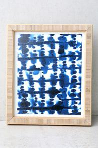 DENY Designs Parallel Blue Print Framed Wall Art
