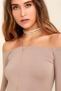Country Air Gold and Ivory Choker Necklace Set
