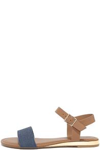 Tierney Blue Denim Wedge Sandals