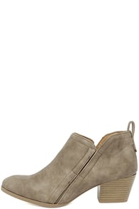Tanesha Taupe Ankle Booties