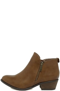 Darcy Tan Ankle Booties