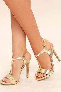 Mallory Gold Dress Sandals