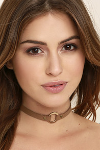 Visionary Gold and Brown Choker Necklace