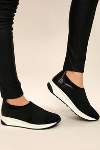 Merilee Black Slip-On Sneakers