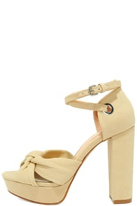 Daya by Zendaya Mission Natural Fabric Platform Heels Image