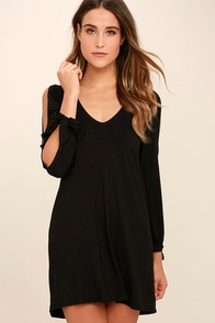 Glory Of Love Black Shift Dress at Lulus.com!