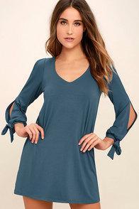 Glory of Love Denim Blue Shift Dress