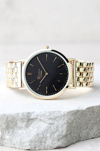 Time Change Black and Gold Watch