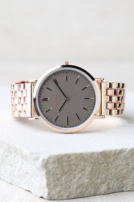 Time Change Grey and Rose Gold Watch