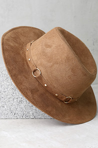 Gone Rogue Tan Fedora Hat
