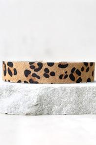 Show Your Spots Tan Leopard Print Choker Necklace