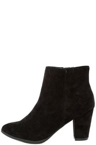 Ryleigh Black Suede Ankle Booties