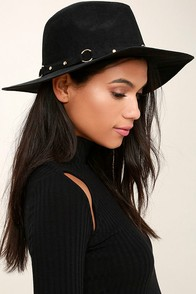 Gone Rogue Black Fedora Hat