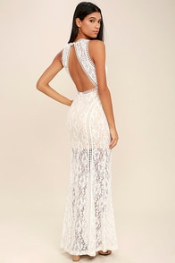 Better With You Ivory Lace Maxi Dress