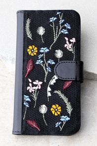 Zero Gravity Gather Black Embroidered iPhone 7 Wallet