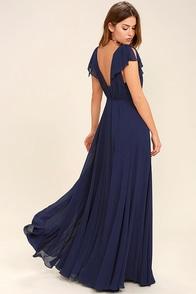 Falling For You Navy Blue Maxi Dress