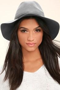 Wander About Grey Wool Fedora Hat