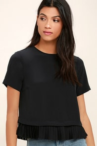 Precisely My Point Black Short Sleeve Top