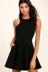 Little Wonder Black Skater Dress