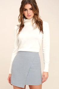Mademoiselle Light Blue Mini Skirt