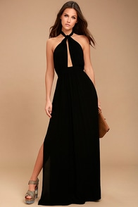 Watch Me Black Maxi Dress