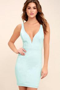Perfect Pick Light Blue Bodycon Dress