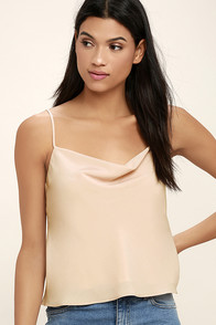 Appreciation Blush Satin Crop Top